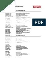 2018 Yearly Academic Calendar