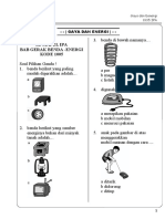 Modul Bimbel Kelas 1 KTSP 1005 IPA Bab 5 Gaya Dan Energi