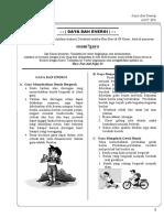 Modul Bimbel Kelas 6 KTSP 6007 IPA Bab 7 Gaya Dan Energi