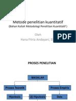 Metode penelitian kuantitatif