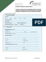 NSIRC - Application Form
