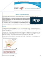 Carpal Tunnel Syndrome-OrthoInfo - AAOS