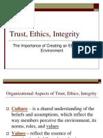 Trust, Ethics, Integrity