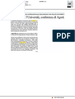 Proposte per l'Università, conferenza di Agorà - Il Resto del Carlino del 13 febbraio 2018
