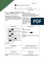 instructional program 1 - discrimination task for carson