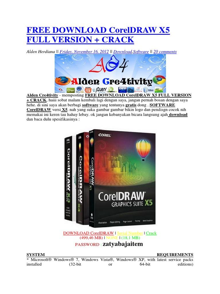 free download of corel draw x5 full version