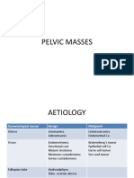 Pelvic Masses