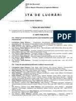 Lista de Lucrari Diana Robescu Actualizata 2016