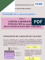 TEMA 2 - Integr Ec. Reacciones Homog. de v. Variable