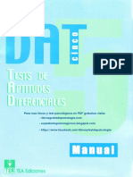 Manual DAT-5 (Tea Ediciones)