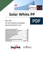 Solar White PP - Karta Produktu