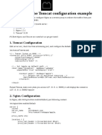 Nginx + Apache Tomcat configuration example