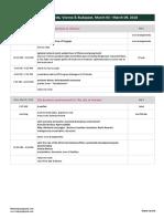 University of Florida - Vienna & Budapest Itinerary 09.02.2018