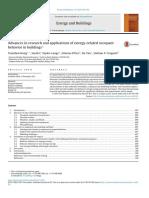 Advances in Modeling Occupant behavour