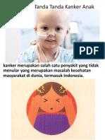 Waspadai Tanda Tanda Kanker Anak