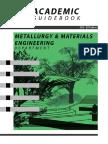 Academic Guidebook Metallurgy Materials Engineering 2016 2017 Edition