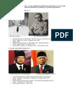Daftar Nama Presiden Dari Awal Sampai Sekarang
