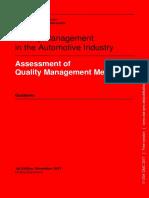 VDA Volume Assessment of Quality Management Methods Guideline 1st Edition November 2017 Online-Document