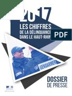 Chiffres de La Délinquance 2017 dans le Haut-Rhin