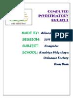 Comp Sc. Investigatory