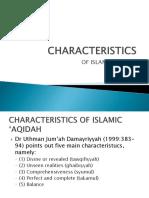 Characteristics of Islamic 'Aqidah