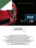 Manual Alfa Romeo Mito 2016
