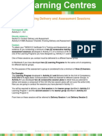 TAE40110 Conduct Delivery and Assessment Sessions Instructions V3.0 December 2014