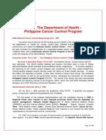 The Philippine Cancer Control Program