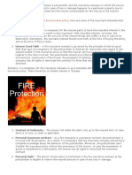A fire insurance is a contract between a policyholder and the insurance company in which the insurer agrees to compensate the insured in case of loss or damage happens to a particular property due to fire.docx