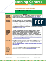 Language Literacy and Numeracy Weblinks V1.0 2014