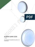 Runner Game Code