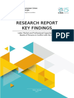 Labor Market and Professional Capacities and Needs of Persons in Conflict with the Law_Research Report Key Findings