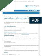 LIBERACIÓN de VEHÍCULOS RETENIDOS _ Comisión Nacional de Regulación de Transporte