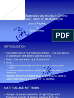 Prevalence of Depression and Anxietyu in Chronic Kidney Disease Patient on Haemodialysis