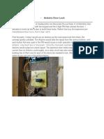 Arduino Combination Door Lock