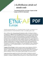 Fibrillazione Atriale Terminato in Europa l'Arruolamento Di ETNA-AF Europe