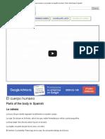 El cuerpo humano y sus partes en español con fotos - Parts of the Body in Spanish.doc