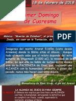 PRIMER DOMINGO DE CUARESMA 2018 CICLO B