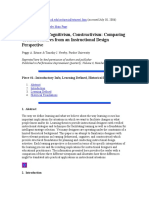 Conductismo, cognitivismo y constructivismo. Tres posturas desde la labor.