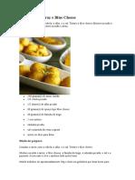 Bolinhos de Arroz e Blue Cheese
