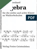 Algebra Für Die Siebte Und Achte Klasse an Waldrofschulen _ Arnold Bernhard_digitalizado