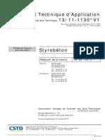 Styrobeton Avis Technique Cstb