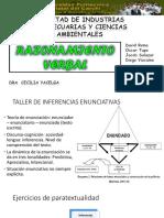 2 Taller de Inferencias Enunciativas, Romo, Tupe, Salazar y Vizcaíno