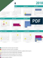 Calendario UAEM 2018