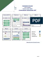 Calendario Licenciaturas Semestrales SEP 18-2 210916