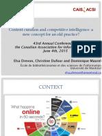 CAIS2015 ElsaDrevon Curation-et-Veille en Vf