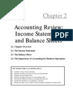 Balance Sheet Income Statement