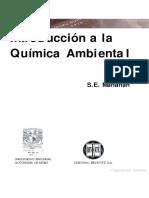Introducción a La Química Ambiental. Conceptos Básicos