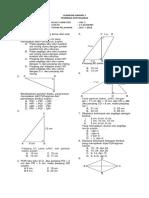 Soal Ulangan Teorema Pythagoras Kelas 8 Kurikulum 2013