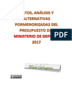 Presupuesto Ministerio Defensa 2017